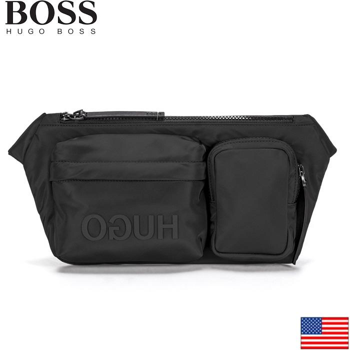 HUGO BOSS 50407497 ヒューゴボス 逆ロゴ マルチポケット ベルトバッグ US Reverse-logo multi-pocket belt bag