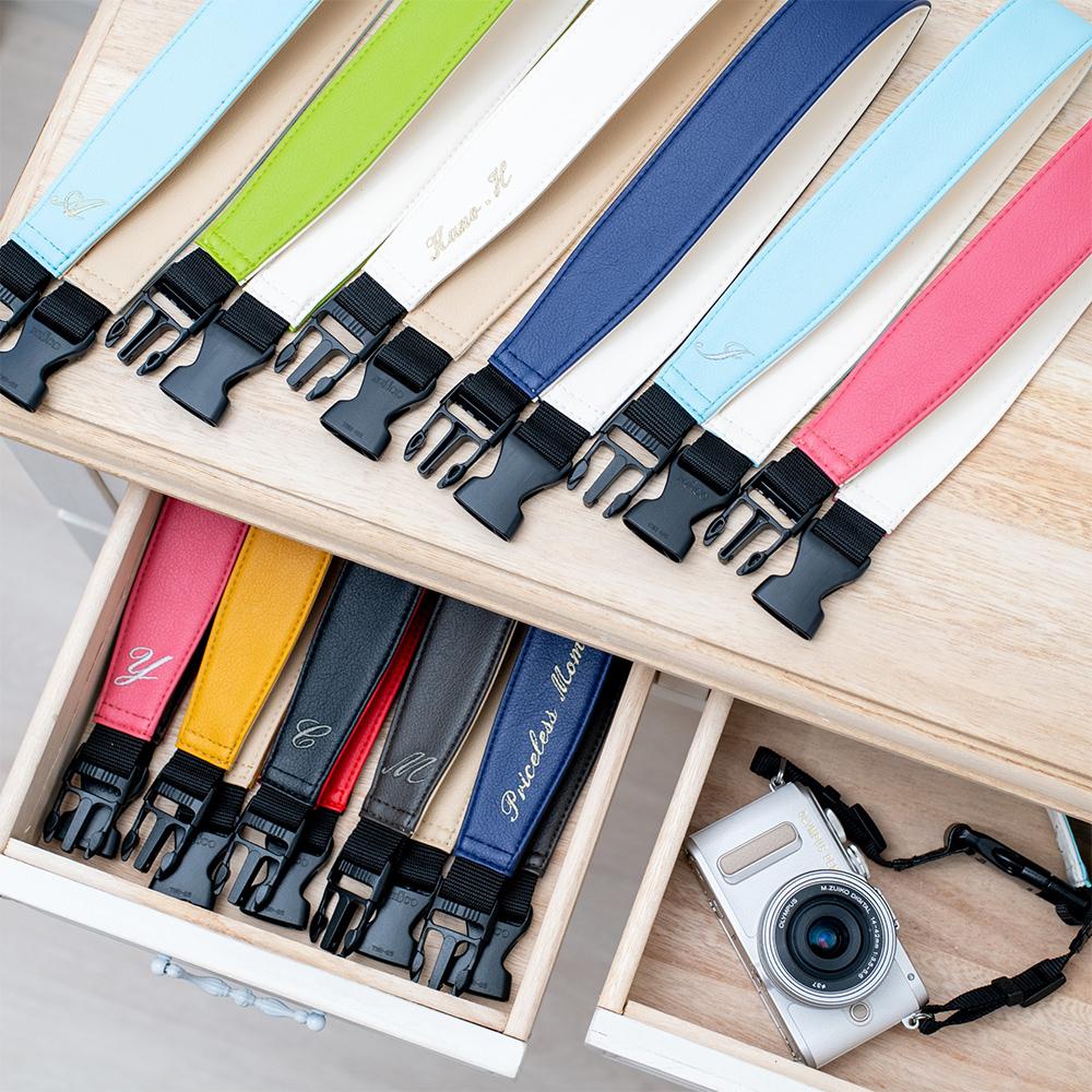 3WAY リバーシブルスライドアップストラップ カメラストラップ chiKano 着せ替え部 日本製 名入れ PVCレザー おしゃれ ミラーレス ストラップ デジカメ 新作送料無料 ハンドストラップ ネックストラップ カメラ 一眼レフ 在庫限り