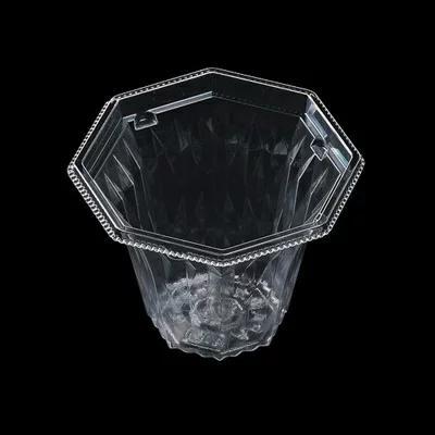 正規取扱店 サラダ フルーツ スイーツにも最適な透明テイクアウト容器 値下げ TKG 業務用 使い捨て容器 透明 カットフルーツ AP八角カップ-105 7-1472-1201 〈XKT-73〉本体 50入 スイーツ 容量:260c.c. テイクアウト