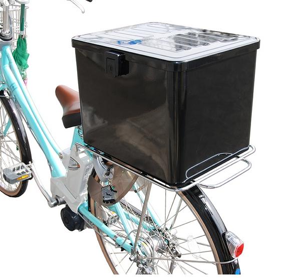 送料無料 サブキャリアで自転車の荷台を拡張 メーカー公式ショップ リンエイ ランキングTOP5 取付セット一式 業務用 ラゲッジボックスNo.4+サブキャリアセット デリバリー 各種自転車 大容量 汎用 電動自転車に対応 宅配