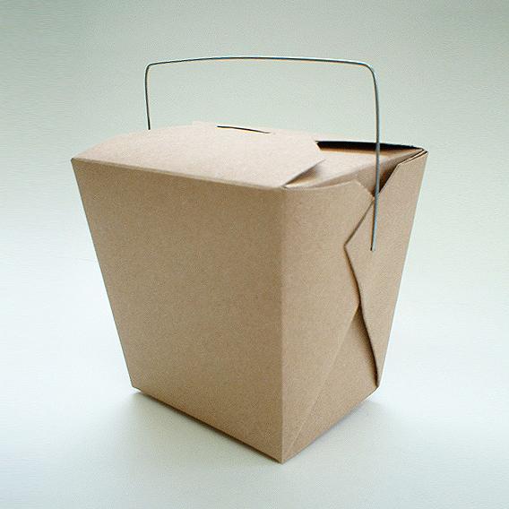 アメリカ製 元祖FOLD-PAK社 【フードペイル#26 ハンドル付き ブラウン色 クラフト 450個入り】 737ml フードボックス 耐水耐油 汁物OK サイドメニュー フードペール ドギーバッグ doggy bag doggie bag