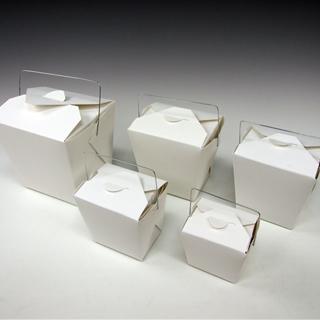 美国制造始祖FOLD-PAK公司227ml食物箱耐水耐油汁物OK旁边菜单食物佩尔装剩菜的袋子