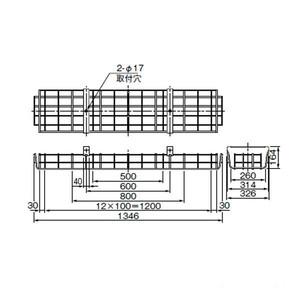 三菱 GAFS6 FHF32W(FL40W) ガード2灯用     ステンレス製