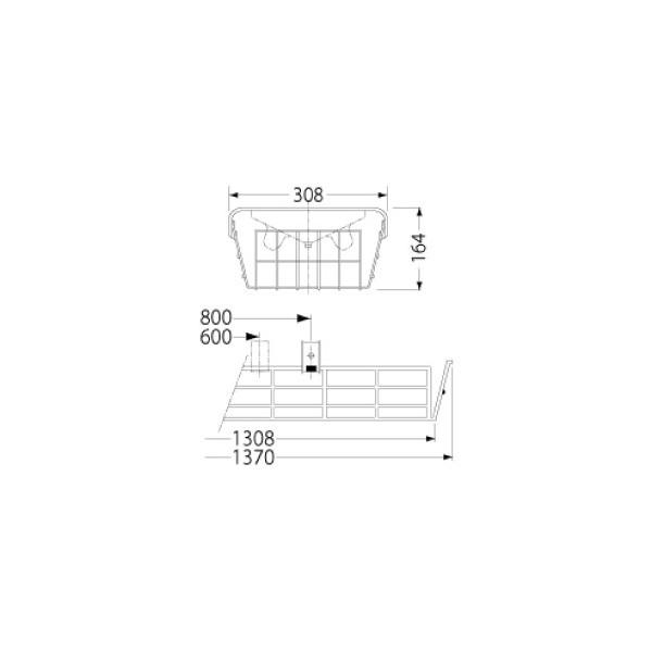 岩崎電気 PF42504 ガード LEDベースライト(40Wタイプ)用(ステンレス製)