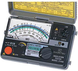共立電気計器 MODEL3148A絶縁抵抗計 100V/250V 『3148A共立』  KYORITSU