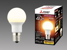 三菱電機 10個入 LDA4L-G-E17/40/S-PS 電球色 LEDランプ 断熱材施工器具対応 全方向タイプ 小型電球40形 口金E17 『LDA4LGE1740SPS』