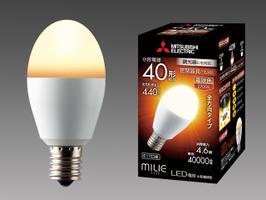 三菱電機 10個入 LDA5L-G-E17/40/D/S 電球色 LEDランプ 調光器対応タイプ 全方向タイプ 小型電球40形 口金E17 『LDA5LGE1740DS』