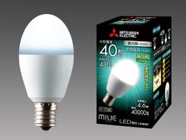 三菱電機 10個入 LDA5N-G-E17/40/D/S 昼白色 LEDランプ 調光器対応タイプ 全方向タイプ 小型電球40形 口金E17 『LDA5NGE1740DS』