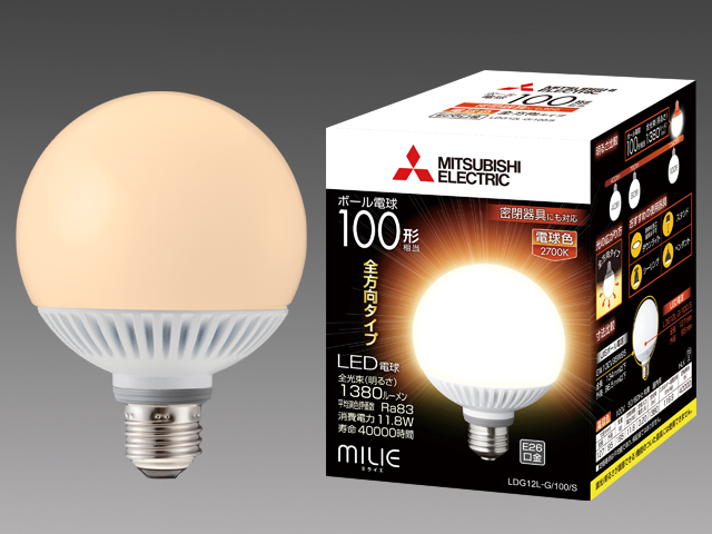 三菱電機 10個入 LDG12L-G/100/S LEDランプ 電球色 全方向タイプ ボール電球100形 口金E26 屋内用 『LDG12LG100S』