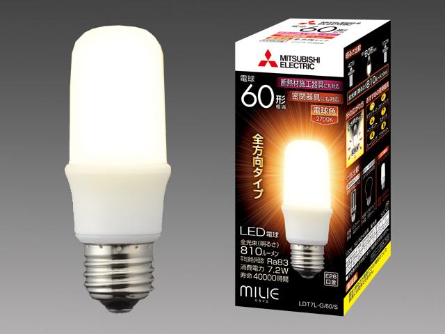 三菱電機 10個入 LDT7L-G/60/S LEDランプ 電球色 T型 一般電球60形 口金E26 『LDT7LG60S』