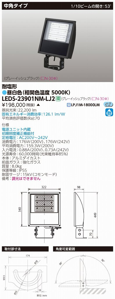 LED LEDS-23901NM-LJ2 (LEDS23901NMLJ2) LED投光器MF400中角GB