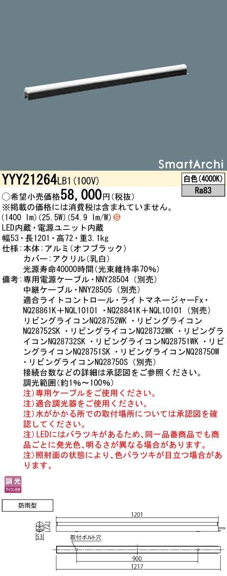 パナソニック YYY21264 LB1(YYY21264LB1) 建築化照明器具 LED(白色)