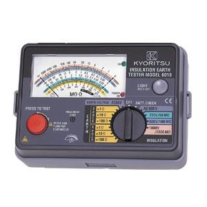 激安の KYORITSU:てかりま専科 共立電気計器 MODEL6018F アナログ絶縁・接地抵抗計 250V/5000V/1000V 精密測定コードセット付 『6018F共立』-DIY・工具