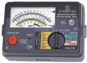 共立電気計器 MODEL6017F アナログ絶縁・接地抵抗計 125V/250V/500V 精密測定コードセット付『6017F共立』 KYORITSU