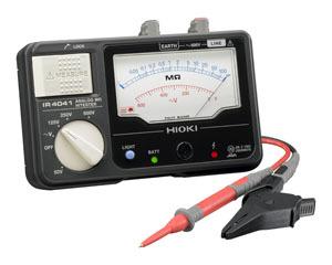 日置電機 HIOKI IR4041-10 4レンジ絶縁抵抗計 テストリード付 50/125/250/500V 『IR404110日置』『404110日置』