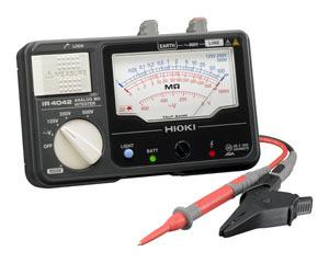 日置電機 HIOKI IR4042-10 4レンジ絶縁抵抗計 テストリード付 125/250/500/1000V 『IR404210日置』『404210日置』