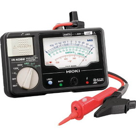 日置電機 HIOKI IR4082-11 アナログメグオームハイテスタ スイッチ付リード付属 125/250/500V 『IR408211日置』 『408211日置』