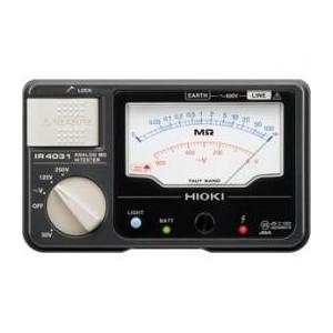 日置電機 HIOKI IR4031-10 3レンジ絶縁抵抗計 スイッチなしテストリード付 50、125、250V 『IR403110日置』 『403110日置』