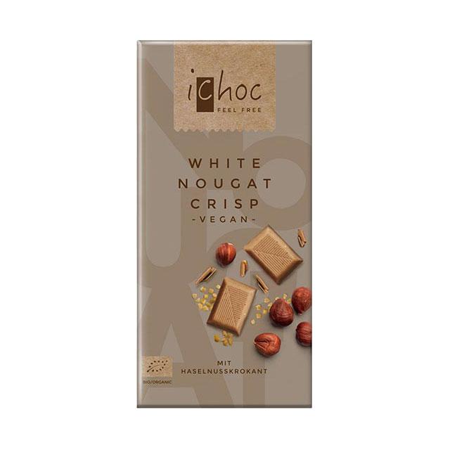 iChoc 〔アイチョコ〕 オーガニックチョコレート ホワイトヌガークリスプ 80g 有機チョコレート