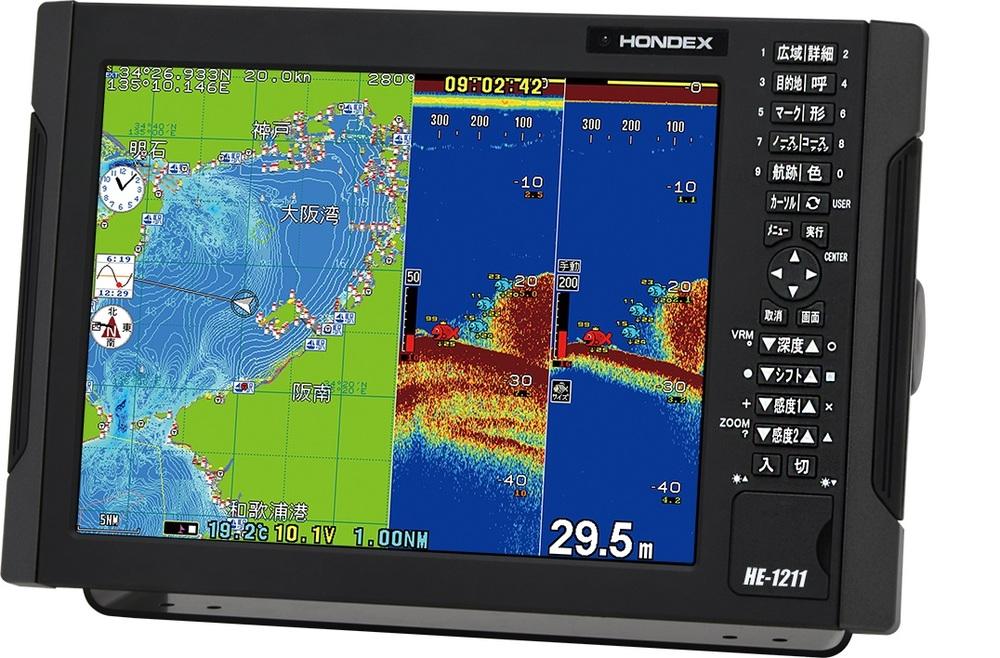 セール特価 【2020 (HONDEX) 4月発売】【手数料無料】 プロッター魚探 ホンデックス (HONDEX) HE-1211 プロッター魚探 HE-1211 12.1型液晶【GPS外付仕様・出力2kW】, ますやみそ:b65b2a36 --- easyacesynergy.com