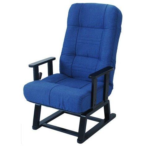 ヤマソロ 回転高座椅子【晶】(しょう) 83-992 藍色 (代引対象外)