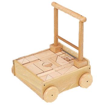 河合楽器製作所 4044 押し車つみき (くみあわせてあそぶ) 木の玩具