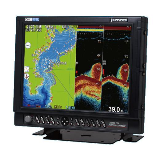 ホンデックス (HONDEX) プロッター魚探 HE-151S 15型液晶 【GPSアンテナ付属・出力5kW】