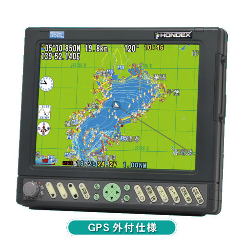 【代引手数料無料】 ホンデックス (HONDEX) GPSプロッター HE-732S 【GPS外付仕様】