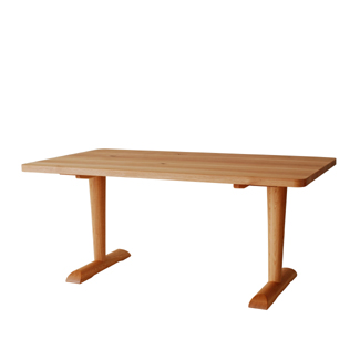 飛騨産業 森のことばCURVAシリーズ LDテーブル(W135)FR353WP キツツキマーク 【代引対象外】