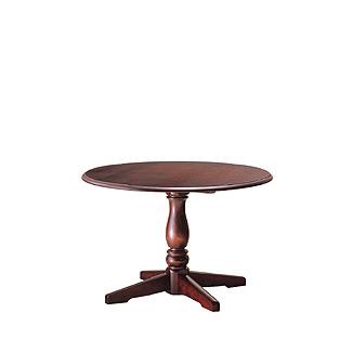 飛騨産業 北海道民芸家具シリーズ 円形テーブルφ80 HM472 キツツキマーク