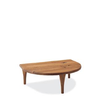 飛騨産業 森のことばシリーズ 半円形リビングテーブル SN105T キツツキマーク