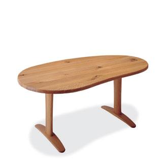 飛騨産業 森のことばシリーズ ビーンズ形テーブル SN370WP キツツキマーク
