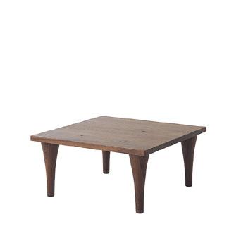 飛騨産業 森のことばWalnutシリーズ コーナーテーブル(ハイタイプ)SW105SH キツツキマーク 【代引対象外】