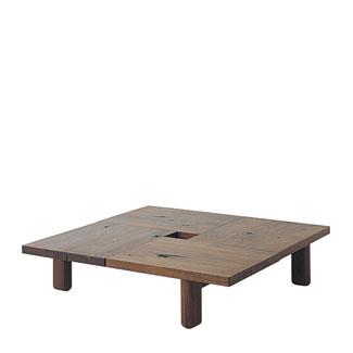 飛騨産業 森のことばWalnutシリーズ 正方形フロアテーブル SW151T キツツキマーク