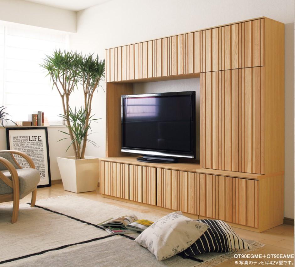 在庫一掃売り切りセール 開梱設置無料※ カリモク家具 karimoku テレビボード2点セット 割引も実施中 テレビボード 代引き不可 キャビネット QT90EGME QT90EAME