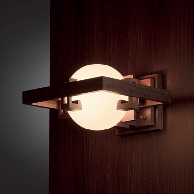 telshop japan yamagiwa lobby b2691 walnut bracket light frank lloyd light yamagiwa robie frank. Black Bedroom Furniture Sets. Home Design Ideas