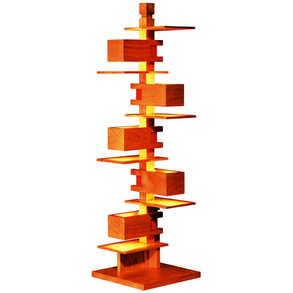 【タリアセン正規販売店】 タリアセン3 322S2311 チェリー色 テーブルスタンド フランクロイドライト