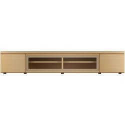 【開梱設置可能】 F-UNITF?UNIT(ビーチ) TVボード/ガラスF/W180 No.6994-36-0000