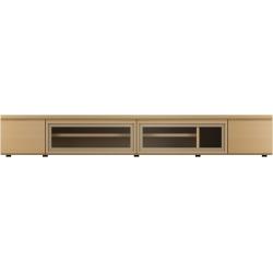 【開梱設置可能】 F-UNITF?UNIT(ビーチ) TVボード/ガラスB/W120 No.6996-34-0000