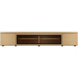 【開梱設置可能】 F-UNITF?UNIT(ビーチ) TVボード/ガラスB/W180 No.6996-36-0000