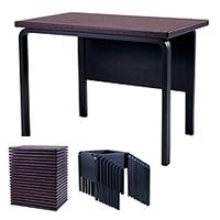 天童木工 スタッキングテーブル T-2658MD-JB(黒) T-2658MD-JU(うるみ) 【代金引換対象外】
