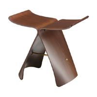 【現在納期2か月】天童木工 バタフライスツールS-0521RW-STローズウッド【代金引換対象外】