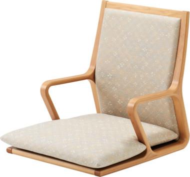 天童木工 座椅子 張地グレード:C(布地) メープルNT色/T-5556MP-NT【代金引換対象外】