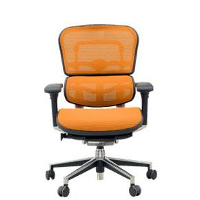 Ergohuman(エルゴヒューマン) オフィスチェア ベーシック EH-LAM(KMD-33) オレンジ 3Dファブリックメッシュ ◆代引きの場合は手数料と別途送料がかかります。