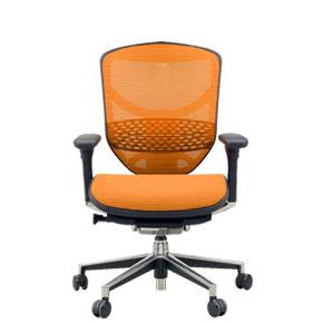Ergohuman(エルゴヒューマン) オフィスチェアエンジョイ EJ-LAM(KMD-33) オレンジ 3Dファブリックメッシュ ◆代引きの場合は手数料と別途送料がかかります。