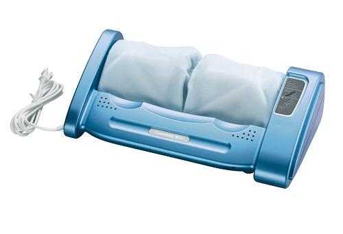 的場電機 家庭用電気マッサージ機 コンフォートウィン アンプ・スピーカー内蔵タイプ 本体:青/カバー:水色