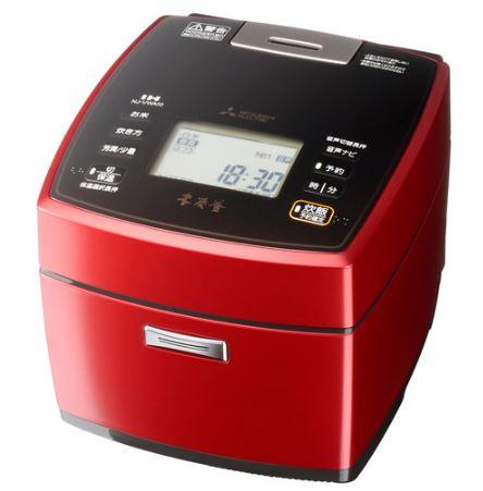 三菱電機 Mitsubishi Electric 炊飯器 NJ-VWA10 0.5~5.5合 レッド