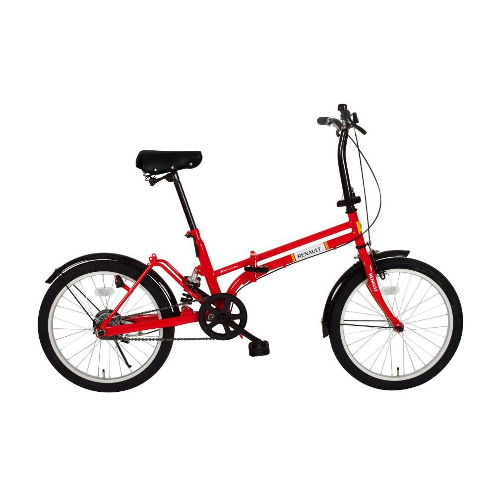 『メーカー在庫限り』ミムゴ MG-RN20R レッド 20インチ折り畳み自転車 RENAULT(ルノー) RサスFDB20『代引き・時間指定不可』