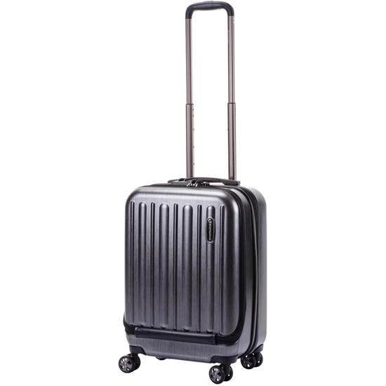 HIDEO WAKAMATSU スーツケース フラッシュ 送料無料 85-75991 ブラック フロントオープン 機内持ち込み適合サイズ 34リットル ヒデオワマカツ Flash