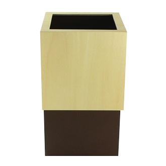 W CUBE 人気海外一番 ゴミ箱 ダストボックス 茶色 ブラウン 容量4L ヤマト工芸 W150xD150xH225 YK09-020-BR お歳暮 Mサイズ